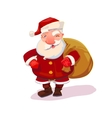 Santa with bag vector image