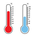 temperature thermometers vector image