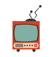 vintage tv icon image vector image