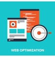 Web Optimization vector image