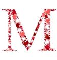 Alphabet of hearts vector image vector image