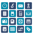 Flat Phone Performance Internet and Office Icons vector image