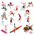 Sport Isometric Sportsmen Olympic Set Game vector image