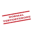 Normal Testosterone Watermark Stamp vector image