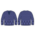 dark blue knitted cardigan vector image