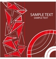 background with geometric objects and red circles vector image vector image