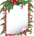 Christmas list vector image