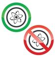 Atom permission signs vector image