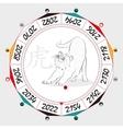 Chinese Zodiac Tiger vector image