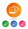 Photo frame template icon Strips vector image