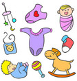 collection stock of baby toy object vector image