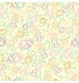 Cute flowers seamless vector image