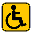 Disabled sign button vector image