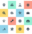 set of simple fixing icons vector image