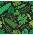 Tropical leavesbranches seamless patternGreen vector image