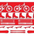sports Equipment silhouette seamless pattern vector image vector image