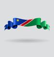Namibian wavy flag vector image vector image