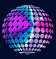 Abstract colorful globe vector image vector image