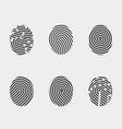 finger print icons set vector image