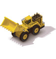 isometric mining wheel loader vector image