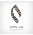olympic flame people 3d vector image