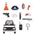 Police Icons Set vector image