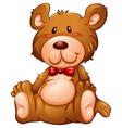 A huggable brown bear vector image