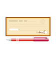 cheque cheque icon in flat vector image