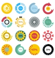 Colorful download icons set cartoon style vector image
