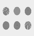 finger print icons set vector image