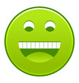 green smiling face cheerful smiley happy emoticon vector image