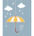 Happy rainy day vector image