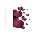 hearts from paper valentines day card - vector image