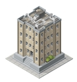 High rises isometric building icons for game vector image