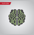 isolated imagination flat icon brain vector image