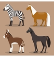 Set equines vector image