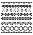 set of floral decor vector image