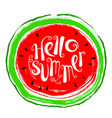 summer design element with watermelon doodle vector image