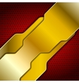 Bright abstract golden design vector image vector image