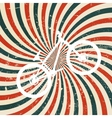 Abstract hypnotic retro background with bike vector image