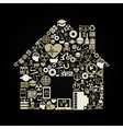 Science the house vector image