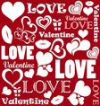 Valentine pattern with love symbols vector image vector image