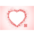 Red Heart Shape Patchwork of QR Codes vector image vector image