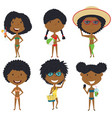 beach female characters vector image