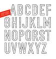 handmade retro font blak letters on white vector image
