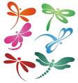 Butterflyn dragonfly logo design vector image vector image