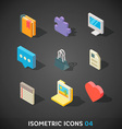 Flat Isometric Icons Set 4 vector image vector image
