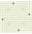 Simple Aircraft Pattern vector image