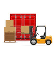 freight transportation concept 01 vector image