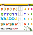 preschool pattern activity vector image